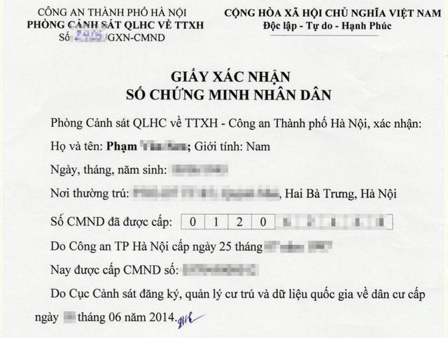 Không yêu cầu người dân cung cấp giấy xác nhận số CMND ảnh 1
