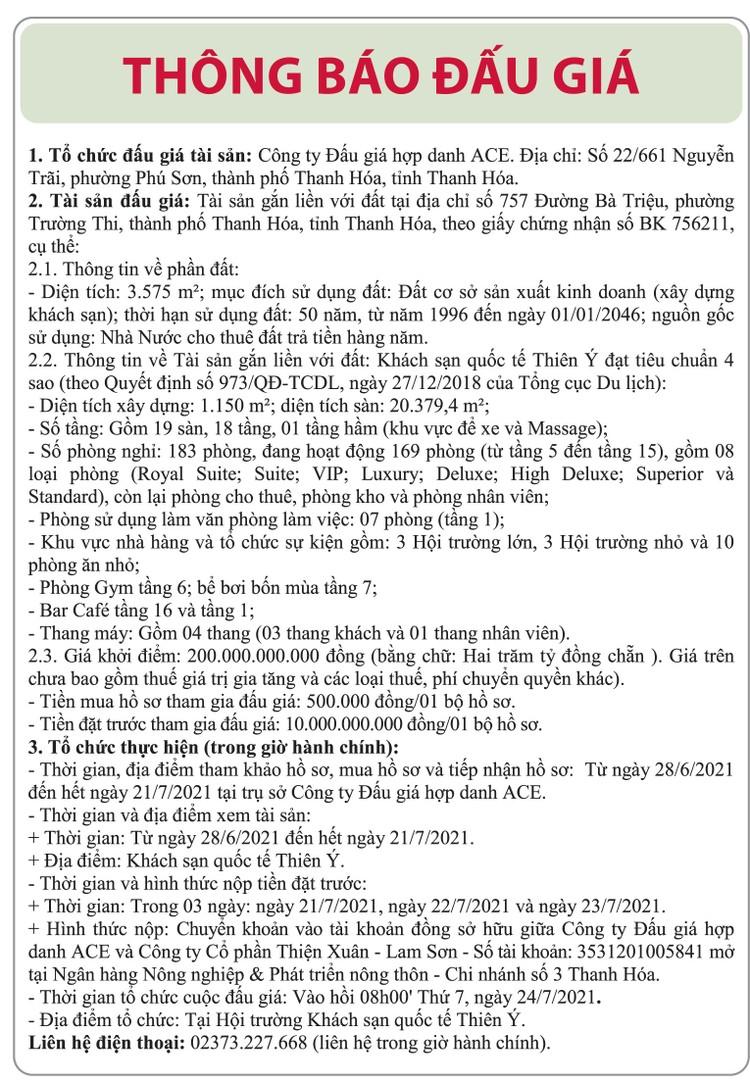 Ngày 24/7/2021, đấu giá quyền sử dụng đất tại thành phố Thanh Hoá, tỉnh Thanh Hoá ảnh 1