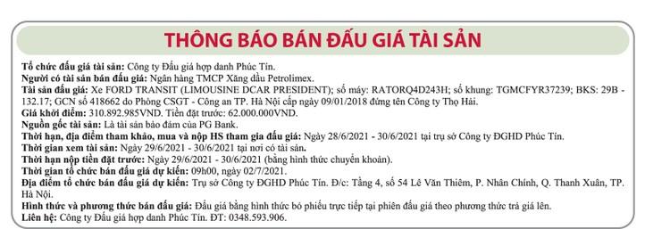 Ngày 2/7/2021, đấu giá xe ô tô Ford tại Hà Nội ảnh 1