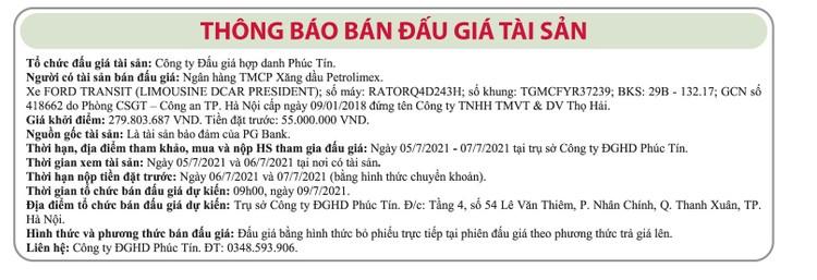 Ngày 9/7/2021, đấu giá xe ô tô Ford tại Hà Nội ảnh 1