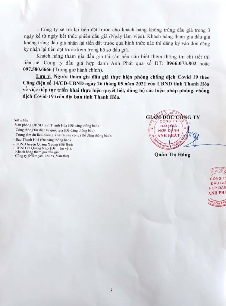 Ngày 30/7/2021, đấu giá quyền sử dụng 58 lô đất tại huyện Quảng Xương, tỉnh Thanh Hóa ảnh 4