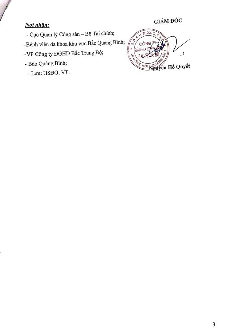 Ngày 6/8/2021, đấu giá tài sản cho thuê tại Bệnh viện đa khoa khu vực Bắc Quảng Bình ảnh 4