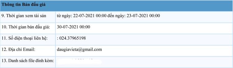 Ngày 30/7/2021, đấu giá 5 xe ô tô tại Hà Nội ảnh 2