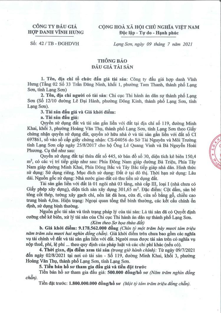 Ngày 5/8/2021, đấu giá quyền sử dụng đất tại thành phố Lạng Sơn, tỉnh Lạng Sơn ảnh 3