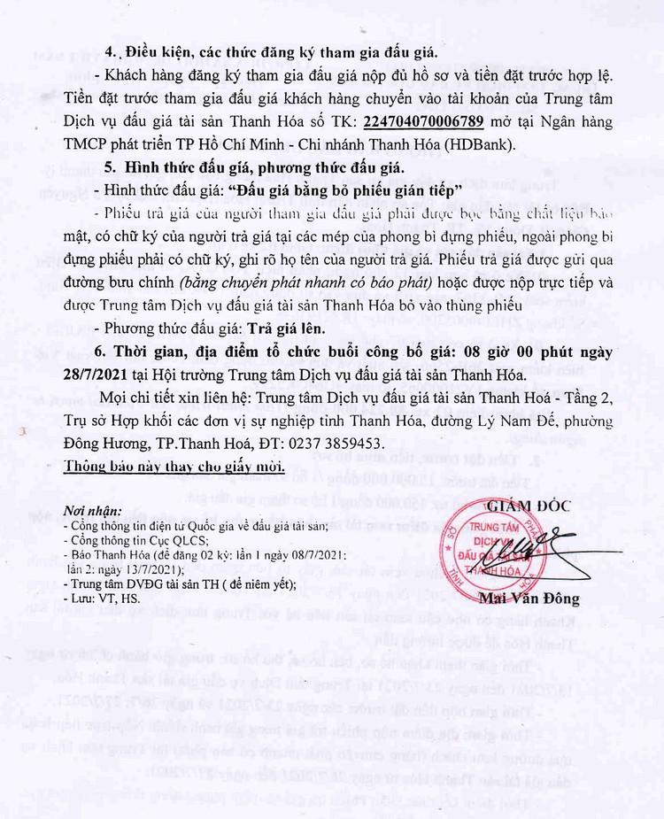 Ngày 28/7/2021, đấu giá 02 xe ô tô tại tỉnh Thanh Hóa ảnh 4