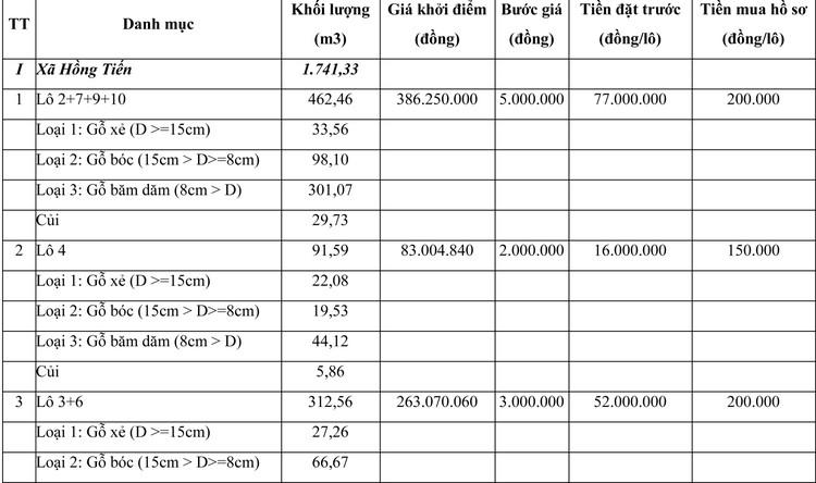 Ngày 23/7/2021, đấu giá gỗ keo lai và keo hạt tại tỉnh Thái Nguyên ảnh 1