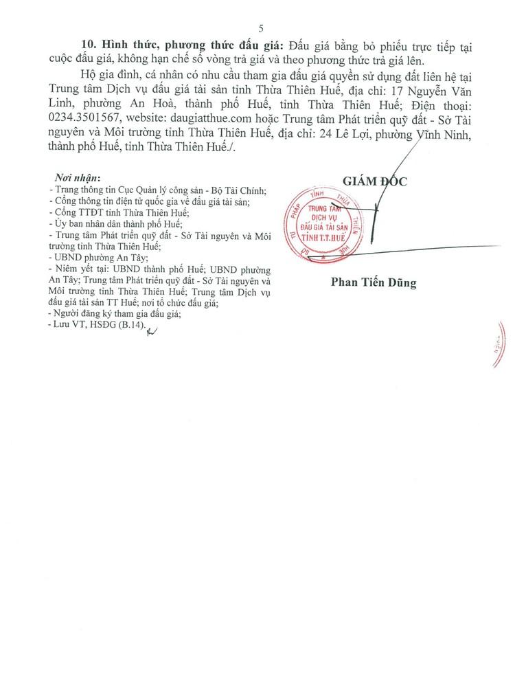 Ngày 6/8/2021, đấu giá quyền sử dụng đất tại thành phố Huế, tỉnh Thừa Thiên Huế ảnh 6