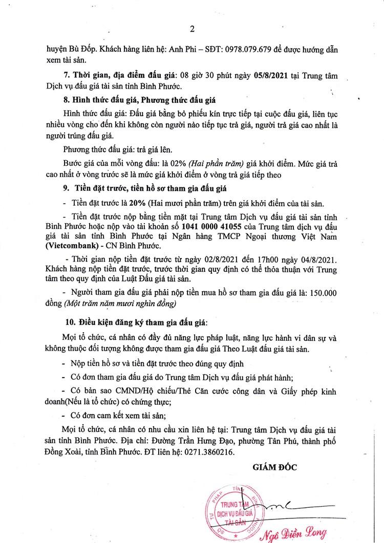Ngày 5/8/2021, đấu giá 02 xe ô tô thanh lý tại tỉnh Bình Phước ảnh 3