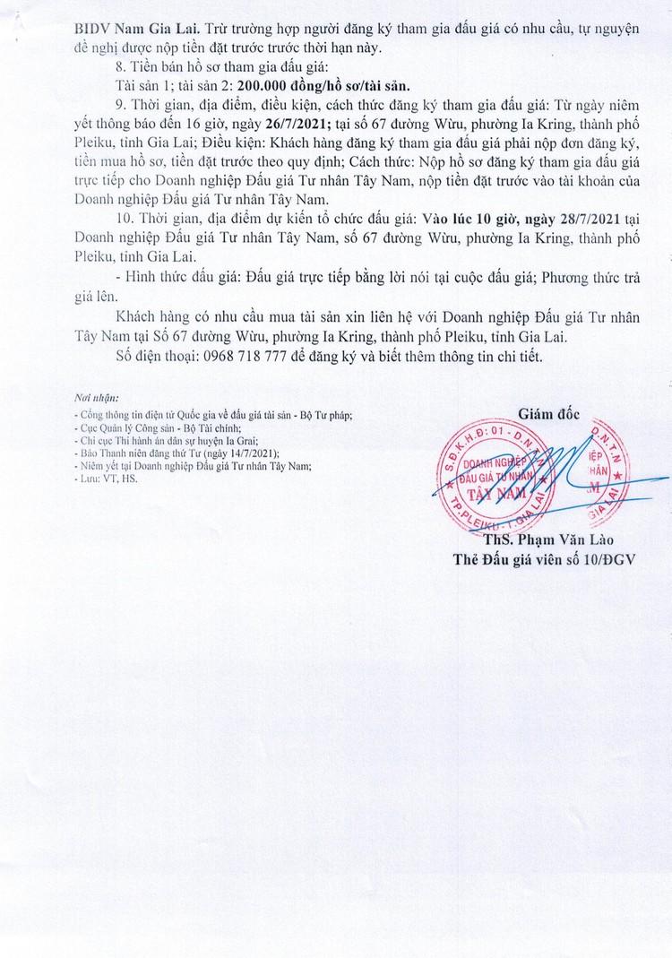 Ngày 28/7/2021, đấu giá quyền sử dụng đất tại huyện Ia Grai, tỉnh Gia Lai ảnh 3