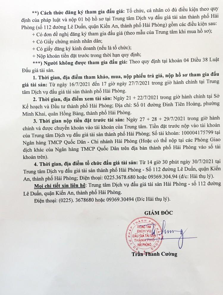 Ngày 30/7/2021, đấu giá ô tô Toyota Camry tại thành phố Hải Phòng ảnh 5