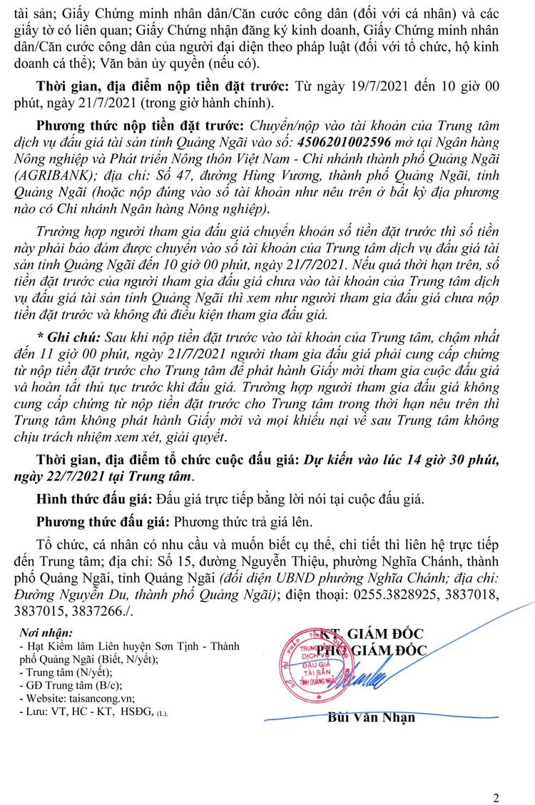Ngày 22/7/2021, đấu giá 1,013m3/04 lóng gỗ tròn thông thường và 7,388 m3/17 lóng gỗ tròn Ké tại tỉnh Quảng Ngãi ảnh 3
