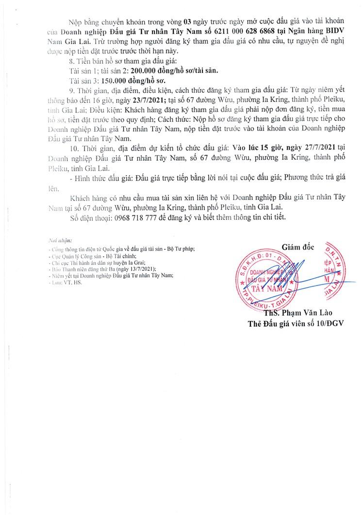Ngày 27/7/2021, đấu giá quyền sử dụng đất tại huyện Ia Grai, tỉnh Gia Lai ảnh 3