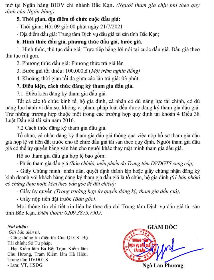 Ngày 21/7/2021, đấu giá tang vật vi phạm hành chính tịch thu tại tỉnh Bắc Kạn ảnh 3