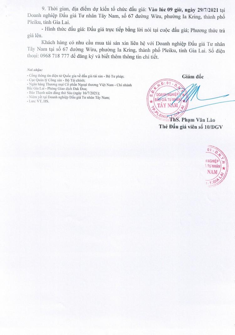 Ngày 29/7/2021, đấu giá quyền sử dụng đất tại huyện Đak Đoa, tỉnh Gia Lai ảnh 3