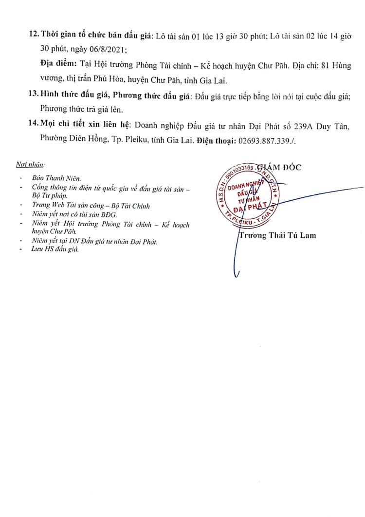Ngày 6/8/2021, đấu giá điện thoại, xe mô tô và 250 khối cát tại tỉnh Gia Lai ảnh 3