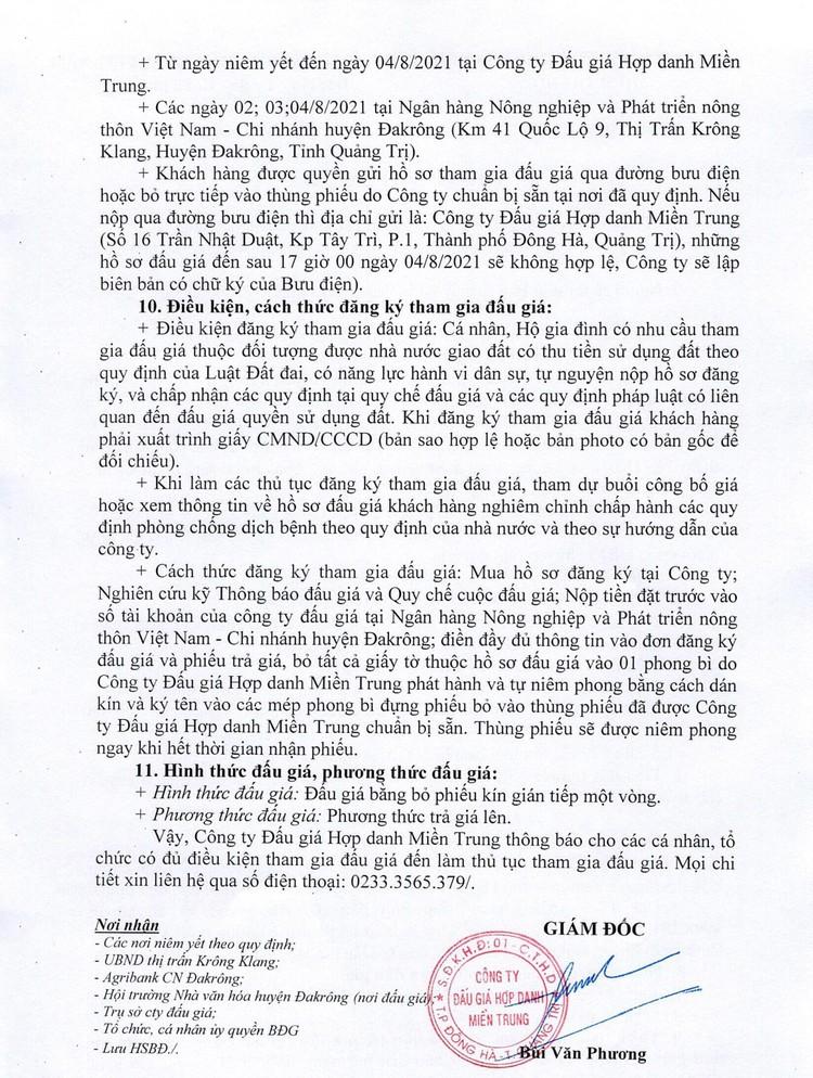 Ngày 7/8/2021, đấu giá quyền sử dụng 47 lô đất tại huyện Đakrông, tỉnh Quảng Trị ảnh 4