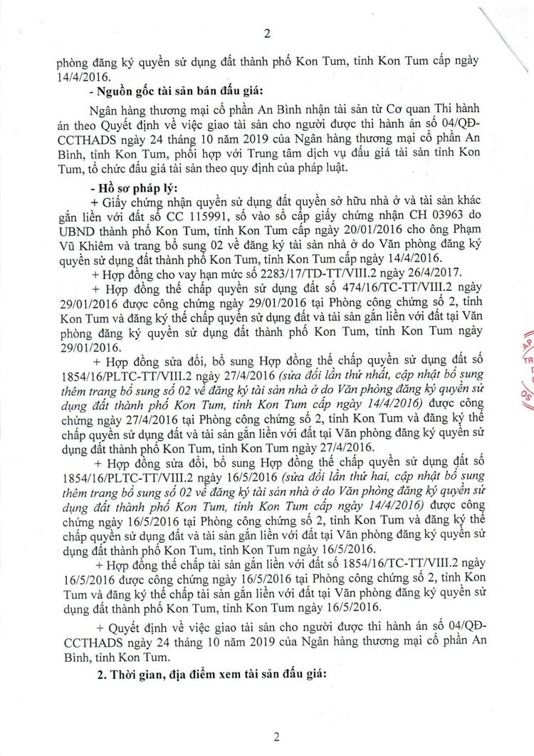 Ngày 9/8/2021, đấu giá quyền sử dụng 287,5 m2 đất tại thành phố Kon Tum, tỉnh Kon Tum ảnh 3