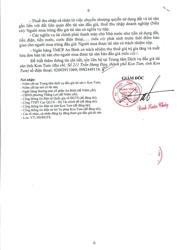 Ngày 9/8/2021, đấu giá quyền sử dụng 287,5 m2 đất tại thành phố Kon Tum, tỉnh Kon Tum ảnh 7