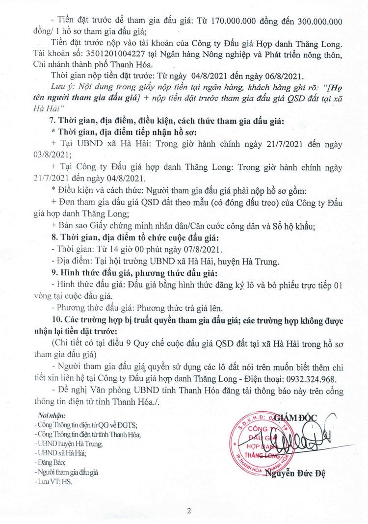Ngày 7/8/2021, đấu giá quyền sử dụng 13 lô đất tại huyện Hà Trung, tỉnh Thanh Hóa ảnh 3