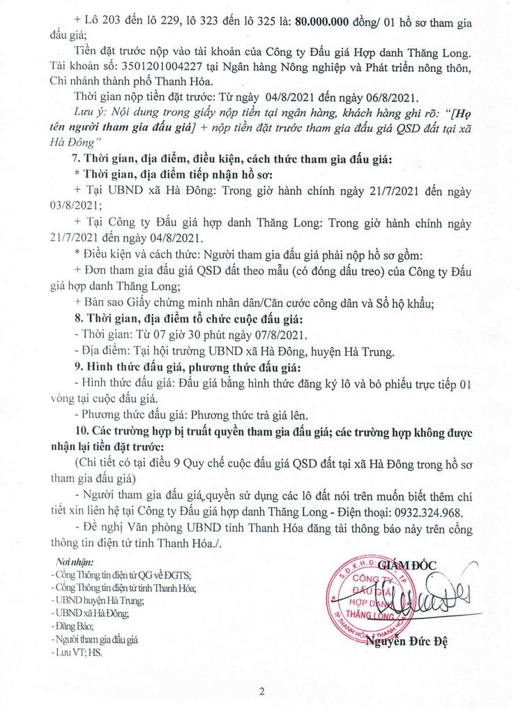 Ngày 7/8/2021, đấu giá quyền sử dụng 34 lô đất tại huyện Hà Trung, tỉnh Thanh Hóa ảnh 3