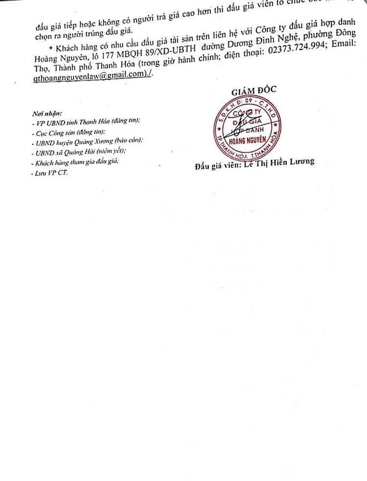 Ngày 5/8/2021, đấu giá quyền sử dụng 54 lô đất tại huyện Quảng Xương, tỉnh Thanh Hóa ảnh 6