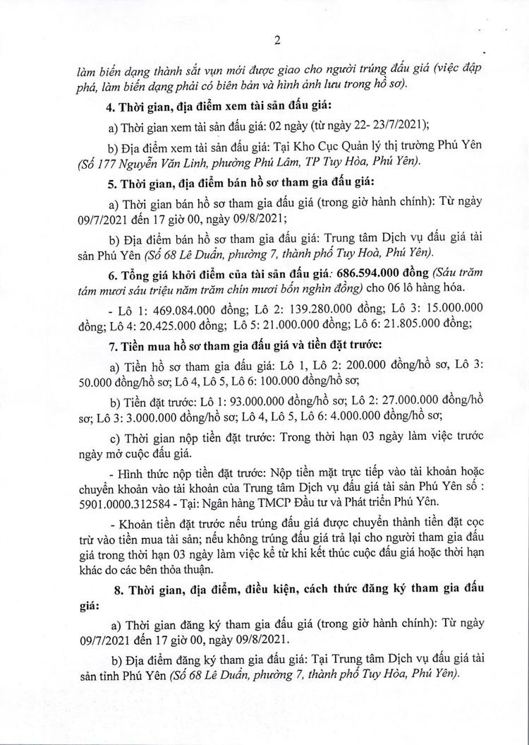 Ngày 12/8/2021, đấu giá tang vật vi phạm hành chính tại tỉnh Phú Yên ảnh 3