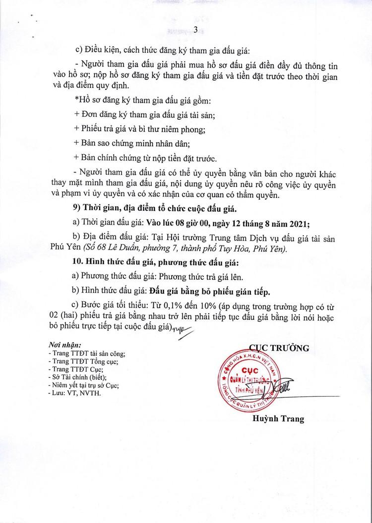 Ngày 12/8/2021, đấu giá tang vật vi phạm hành chính tại tỉnh Phú Yên ảnh 4