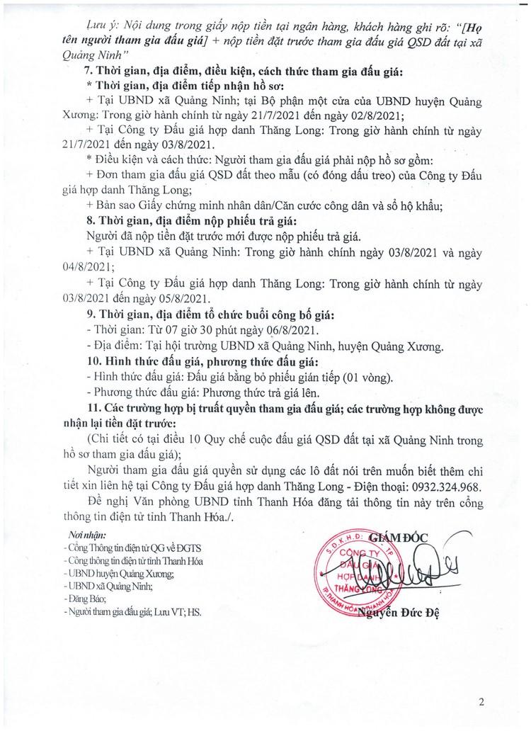 Ngày 6/8/2021, đấu giá quyền sử dụng 88 lô đất tại huyện Quảng Xương, tỉnh Thanh Hóa ảnh 3