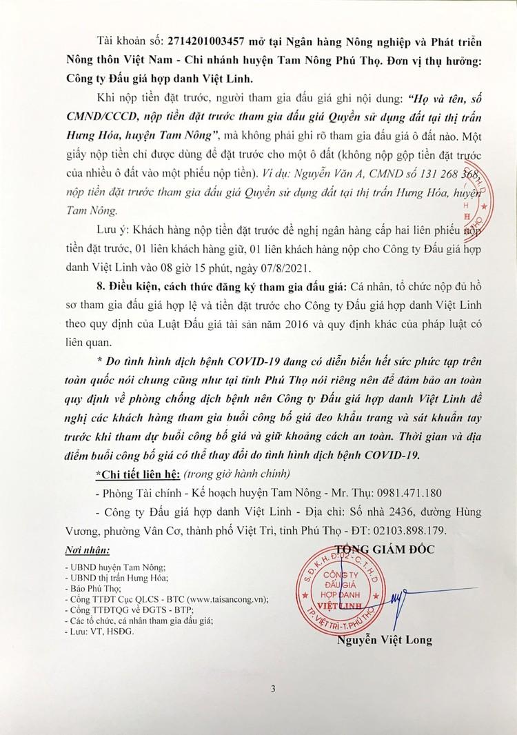 Ngày 7/8/2021, đấu giá quyền sử dụng 29 ô đất tại huyện Tam Nông, tỉnh Phú Thọ ảnh 4