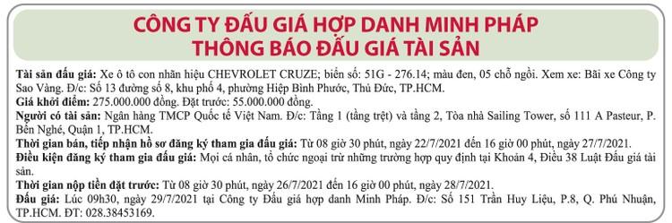 Ngày 29/7/2021, đấu giá xe ô tô Chevrolet tại Hà Nội ảnh 1
