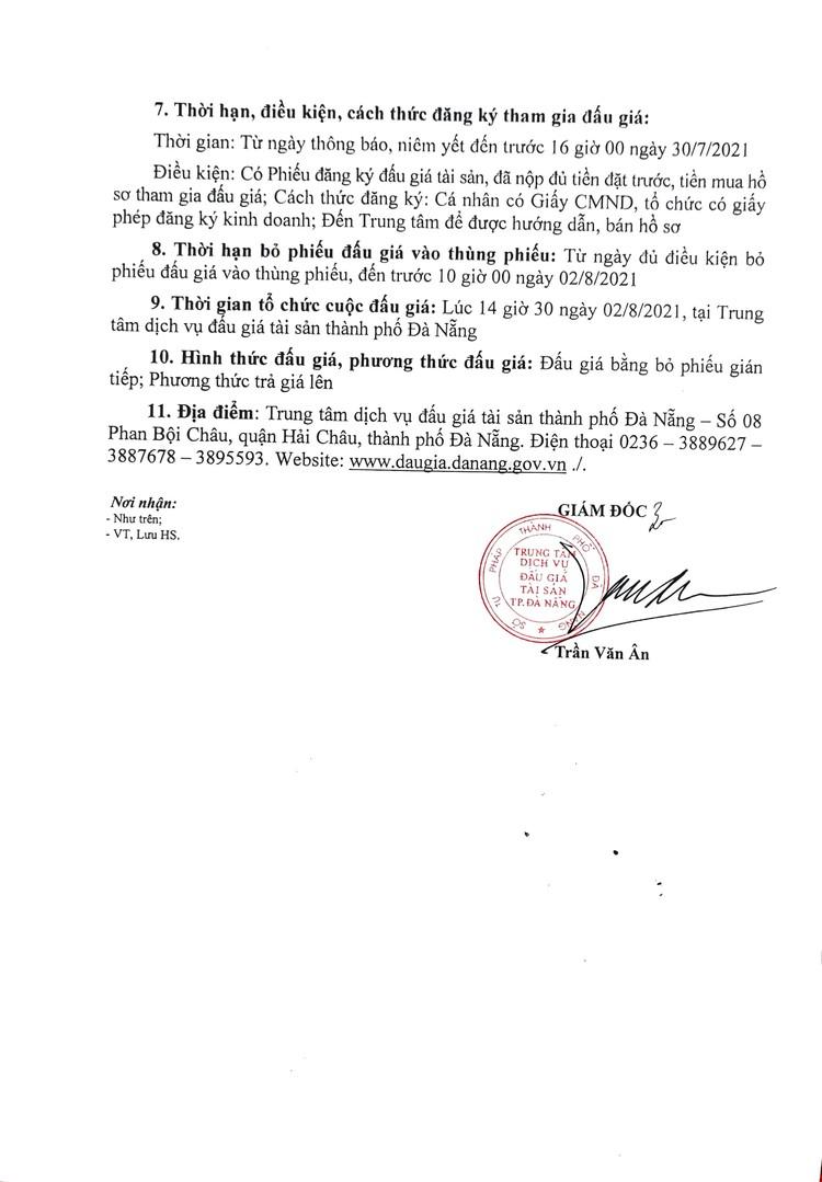 Ngày 2/8/2021, đấu giá lô 3 xe ô tô thanh lý tại thành phố Đà Nẵng ảnh 3