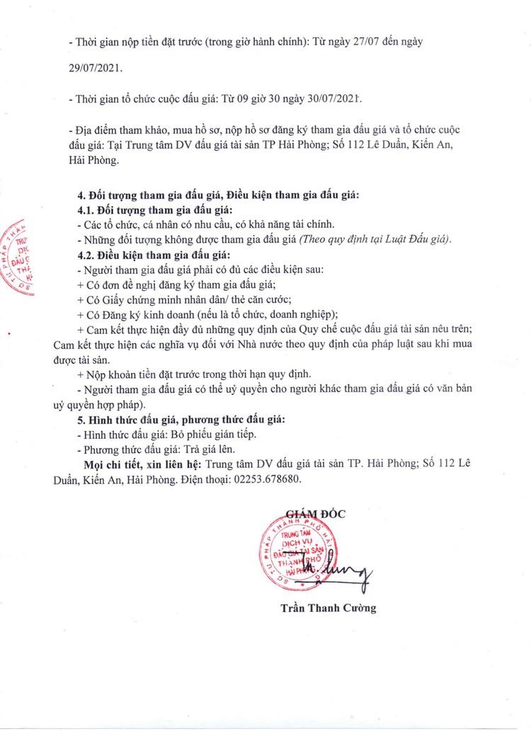 Ngày 30/7/2021, đấu giá xe ô tô TOYOTA tại thành phố Hải Phòng ảnh 3