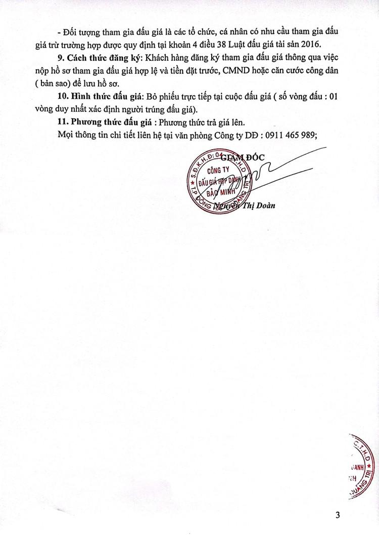 Ngày 30/7/2021, đấu giá tang vật tịch thu tại tỉnh Quảng Trị ảnh 4