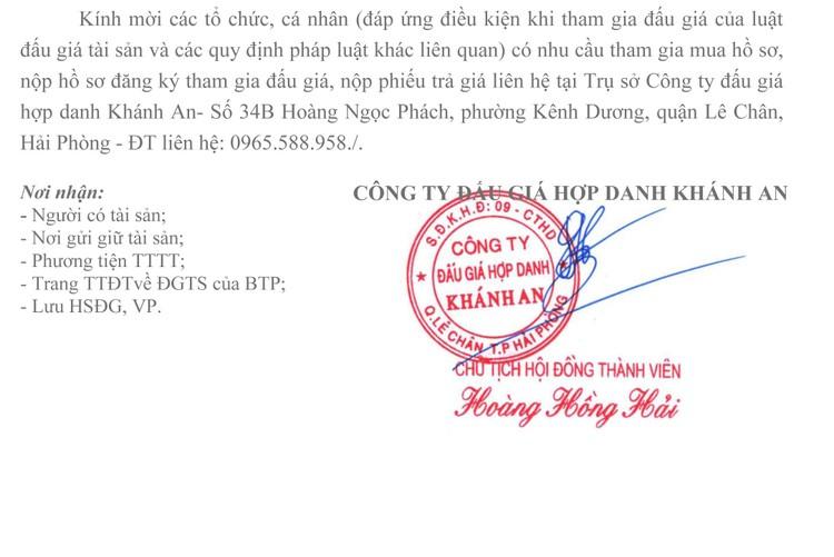 Ngày 30/7/2021, đấu giá tàu chở dầu (TH 01) tại thành phố Hải Phòng ảnh 3