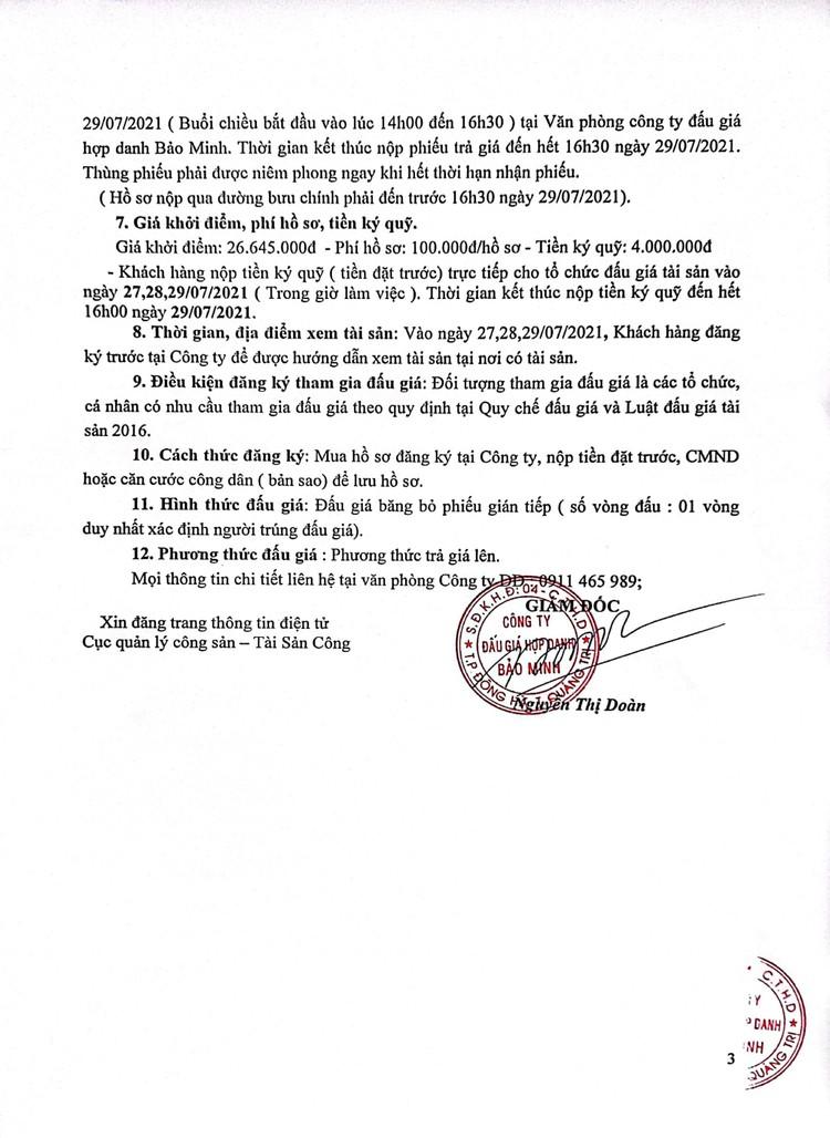 Ngày 30/7/2021, đấu giá tang vật vi phạm hành chính tại tỉnh Quảng Trị ảnh 4