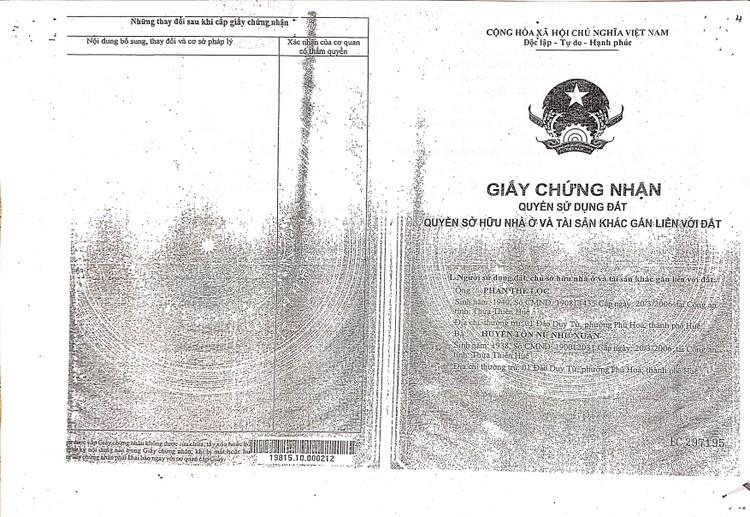 Ngày 27/8/2021, đấu giá quyền sử dụng đất tại thành phố Huế, tỉnh Thừa Thiên Huế ảnh 5
