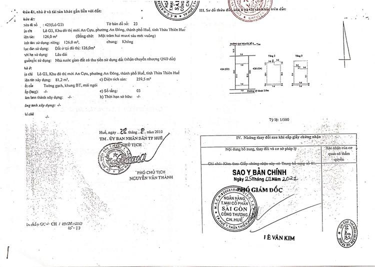 Ngày 27/8/2021, đấu giá quyền sử dụng đất tại thành phố Huế, tỉnh Thừa Thiên Huế ảnh 6