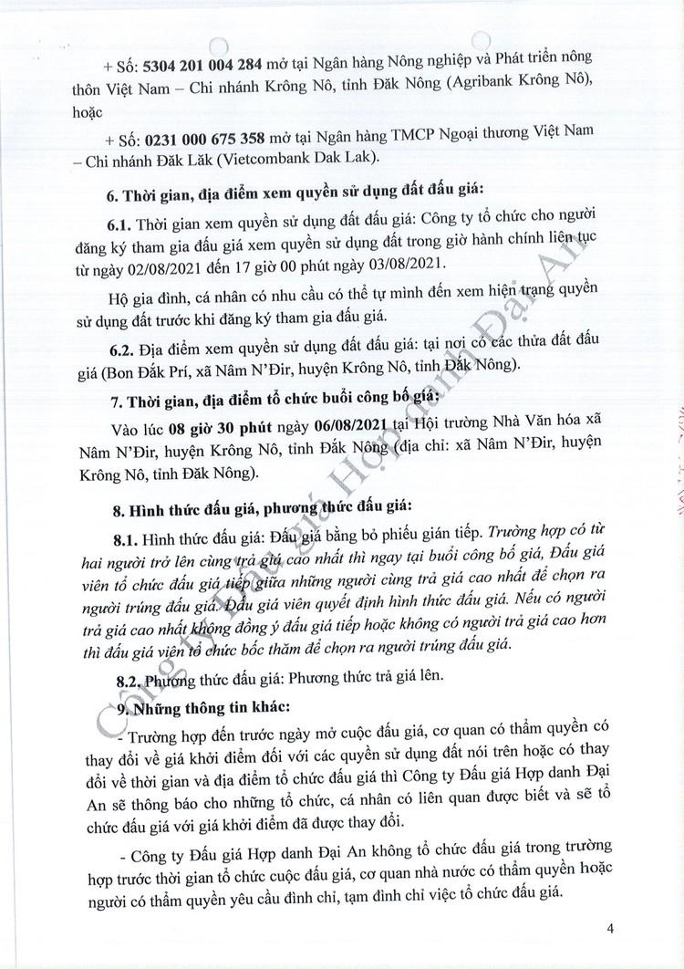 Ngày 6/8/2021, đấu giá quyền sử dụng 30 thửa đất tại huyện Krông Nô, tỉnh Đắk Nông ảnh 5