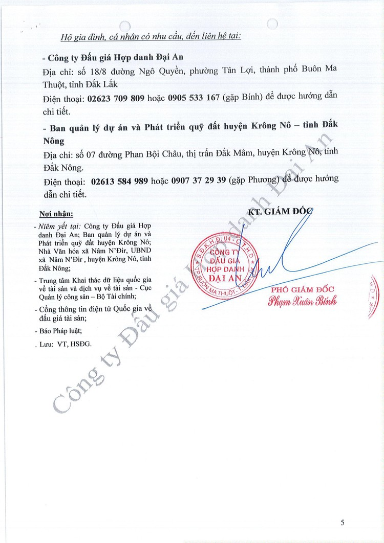 Ngày 6/8/2021, đấu giá quyền sử dụng 30 thửa đất tại huyện Krông Nô, tỉnh Đắk Nông ảnh 6
