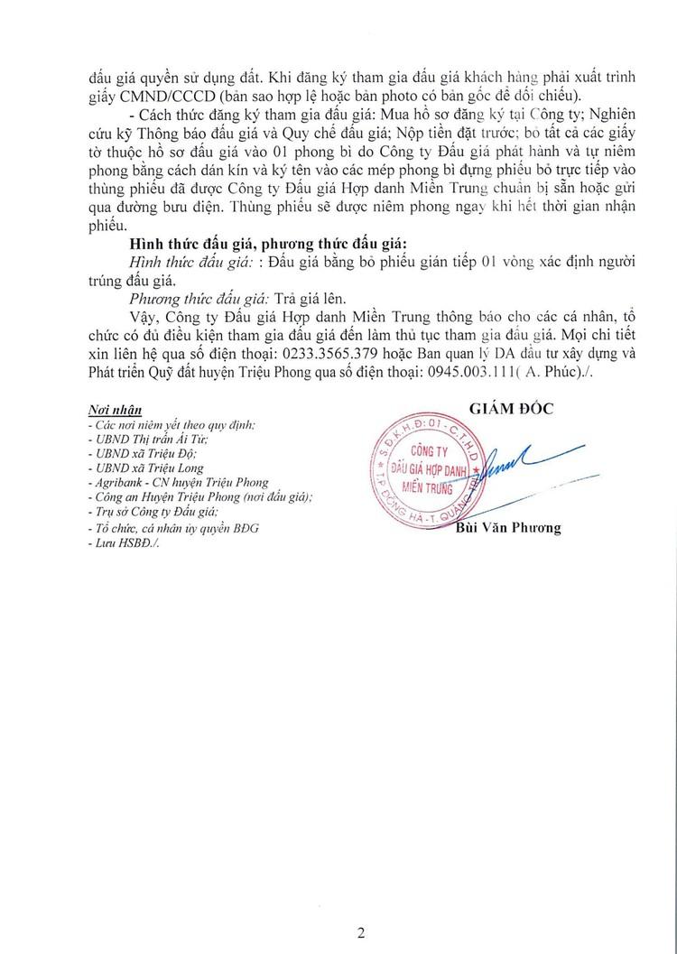 Ngày 8/8/2021, đấu giá quyền sử dụng 30 lô đất tại huyện Triệu Phong, tỉnh Quảng Trị ảnh 4