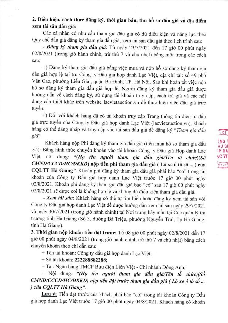 Ngày 5/8/2021, đấu giá 5 xe ô tô tại tỉnh Hà Giang ảnh 3