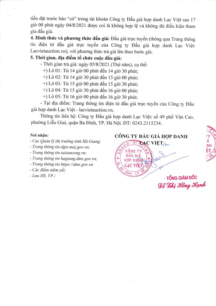 Ngày 5/8/2021, đấu giá 5 xe ô tô tại tỉnh Hà Giang ảnh 4