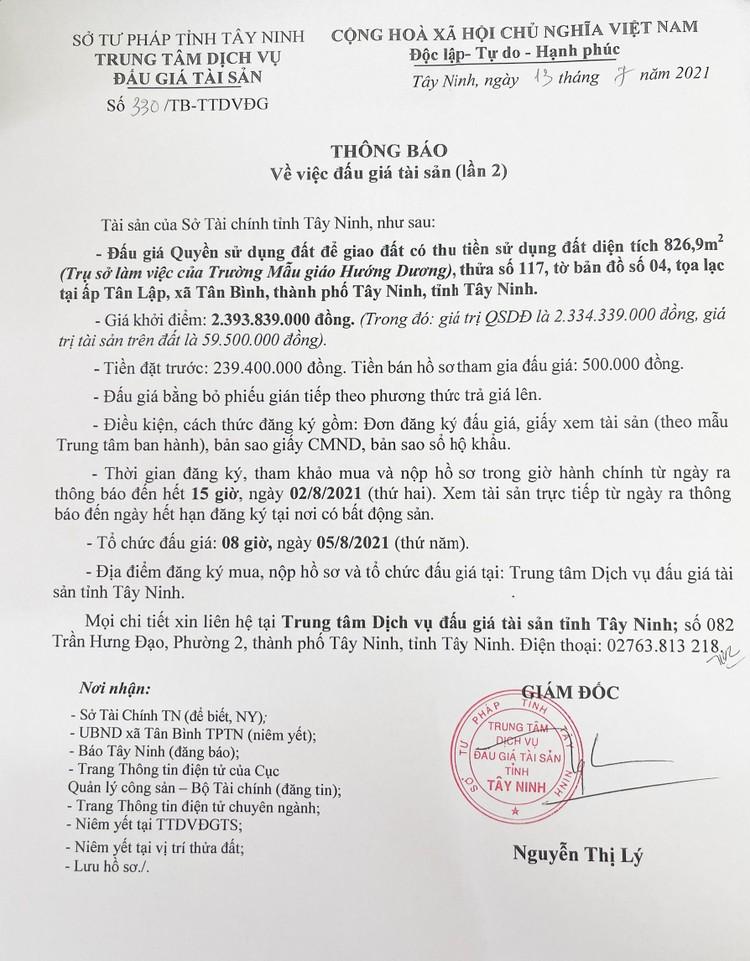 Ngày 5/8/2021, đấu giá quyền sử dụng 3 lô đất tại thành phố Tây Ninh, tỉnh Tây Ninh ảnh 3