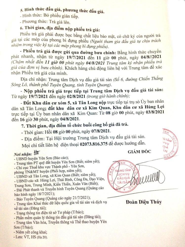 Ngày 7/8/2021, đấu giá quyền sử dụng 31 lô đất tại huyện Yên Sơn, tỉnh Tuyên Quang ảnh 4