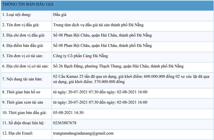 Ngày 5/8/2021, đấu giá 02 Cẩu Kamaz 25 tấn tại thành phố Đà Nẵng ảnh 1
