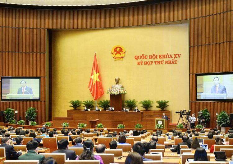 Thủ tướng Chính phủ Phạm Minh Chính trình Quốc hội cơ cấu số lượng thành viên Chính phủ ảnh 1
