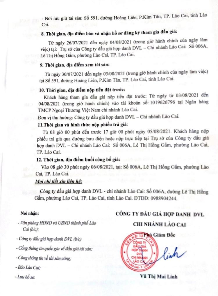 Ngày 6/8/2021, đấu giá xe ô tô Mazda 6 tại tỉnh Lào Cai ảnh 3