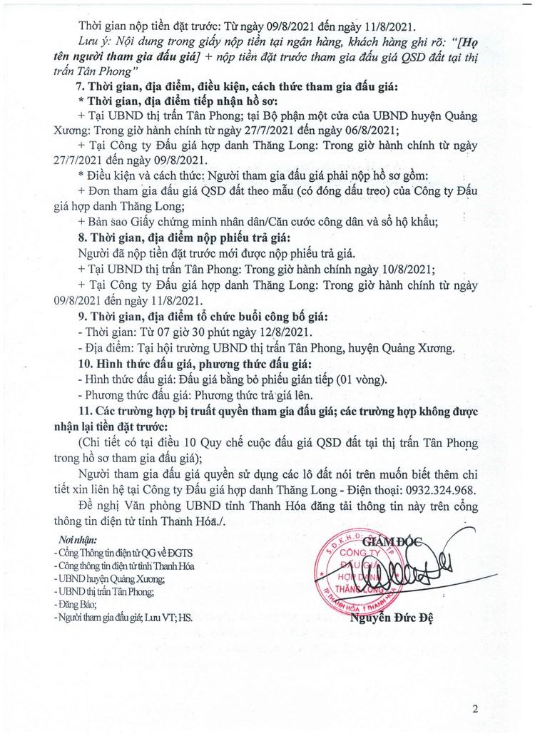 Ngày 12/8/2021, đấu giá quyền sử dụng 49 lô đất tại huyện Quảng Xương, tỉnh Thanh Hóa ảnh 3