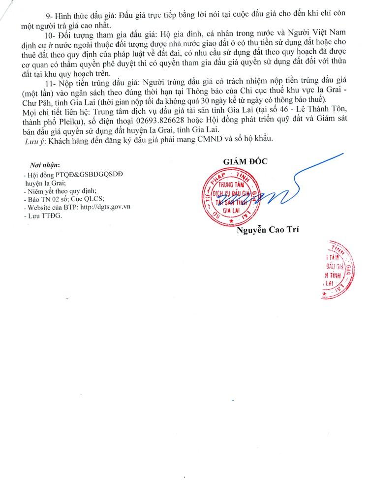 Ngày 12/8/2021, đấu giá quyền sử dụng 62 lô đất tại huyện Ia Grai, tỉnh Gia Lai ảnh 4