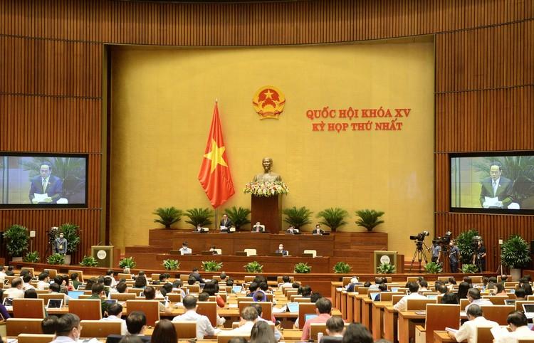 Thông cáo báo chí số 08, Kỳ họp thứ nhất, Quốc hội khóa XV ảnh 1